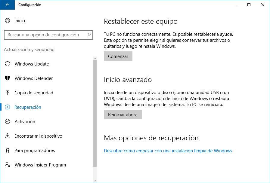 X formas de iniciar Windows 10 en modo seguro - 13