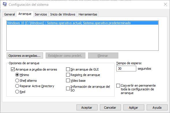 X formas de iniciar Windows 10 en modo seguro - 3