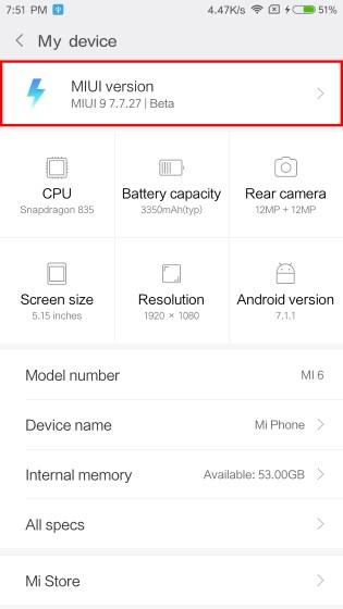 Xiaomi MIUI 9 actualizado con exito