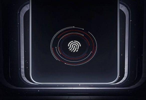 Xiaomi Mi 8 promo lector dactilar en pantalla