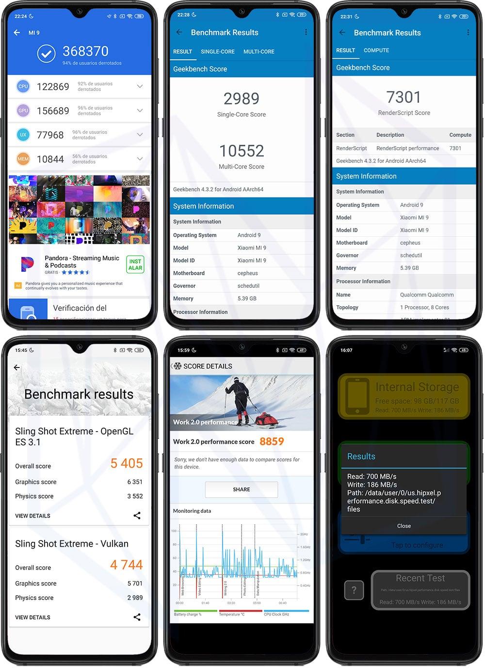 Xiaomi Mi 9 Benchmarks