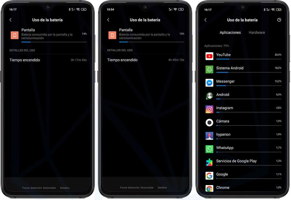Xiaomi Mi 9 Duración de la batería