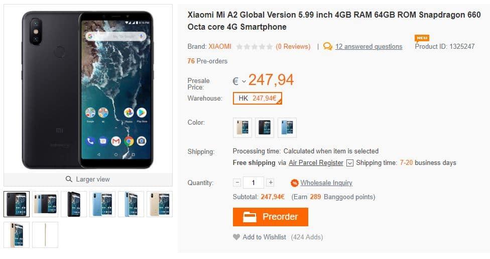 Xiaomi Mi A2 - Banggood