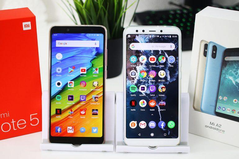 Xiaomi Mi A2 vs Xiaomi Redmi Note 5 test de velocidad