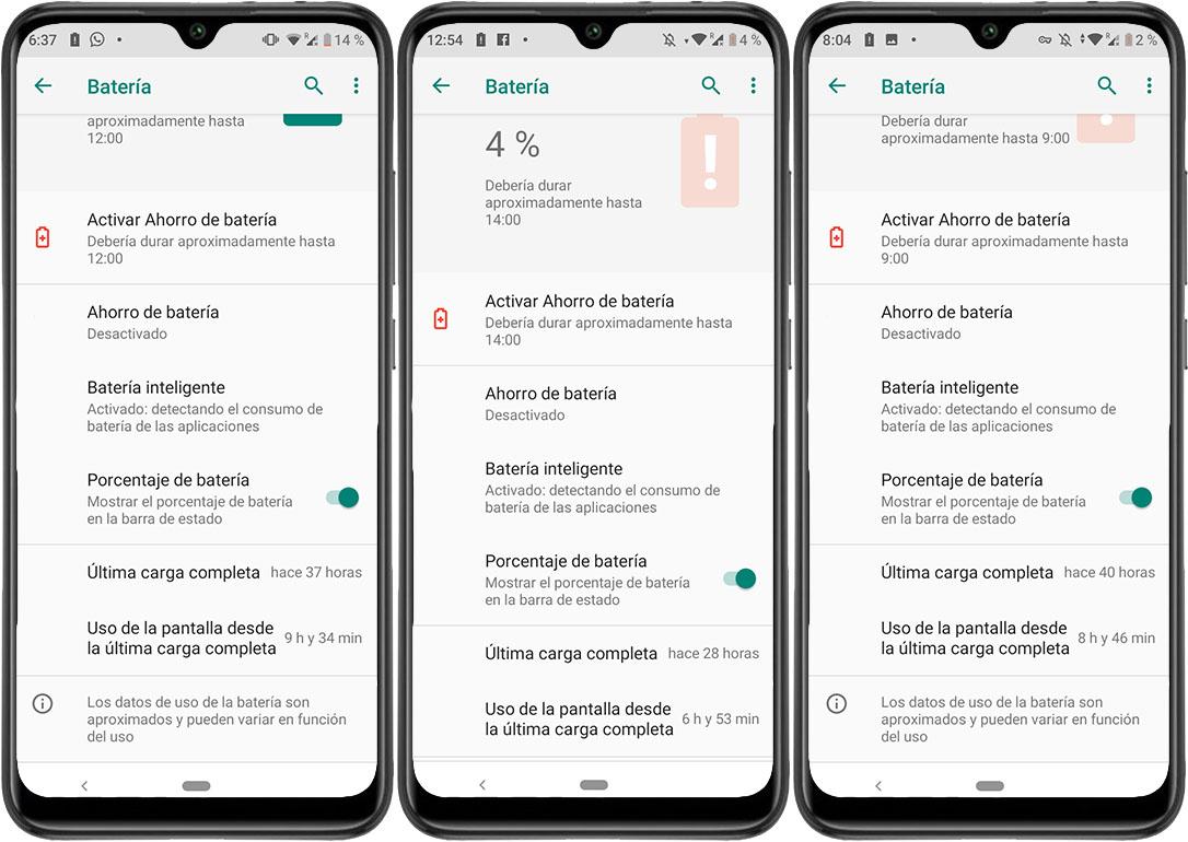 Xiaomi Mi A3 Prueba de batería