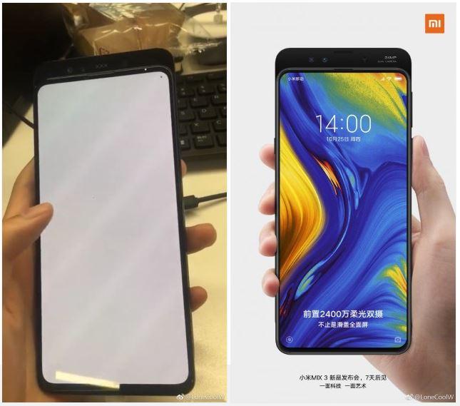 Xiaomi Mi MIx 3 pantalla cámar frontal