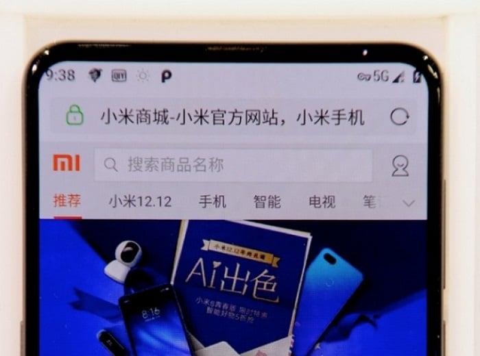 Xiaomi Mi Mix 3 presentando tecnología 5G