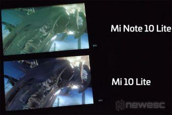 Xiaomi Mi Note 10 Lite Tonos verdes pantalla AMOLED