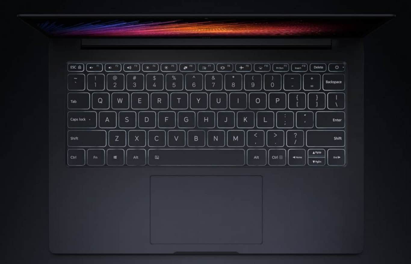 Xiaomi Mi Notebook Air Teclado retroiluminado