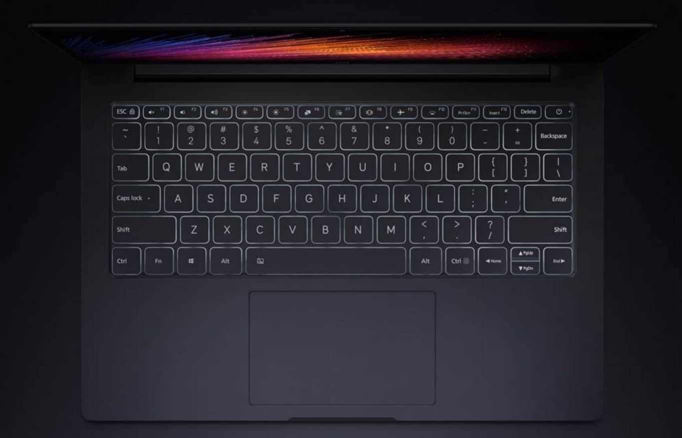 Xiaomi Mi Notebook Air Teclado retroiluminado