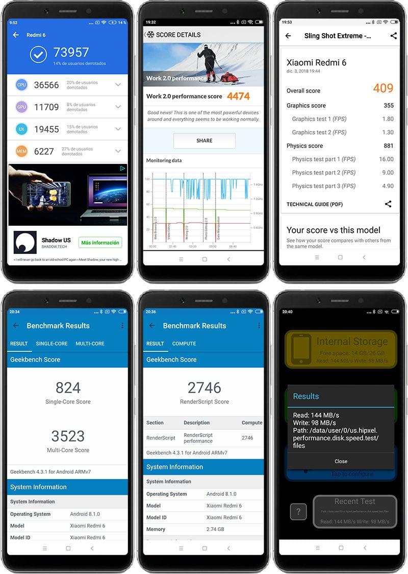 Xiaomi Redmi 6 Benchmarks