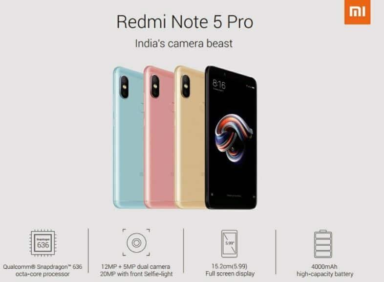 Xiaomi Redmi Note 5 Pro leak