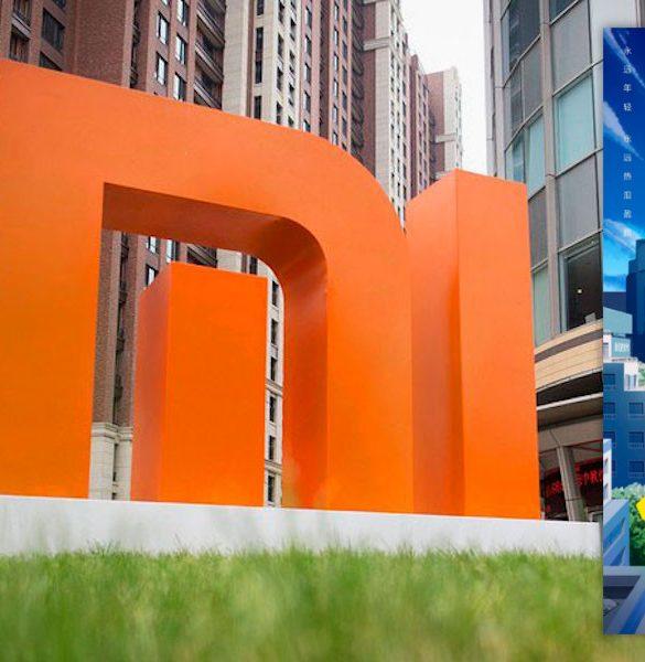 Xiaomi edificio y poster