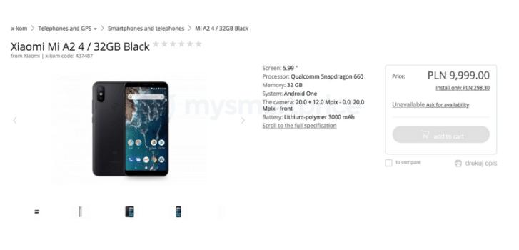 Xiaomi mi A2 Lite tienda polaca