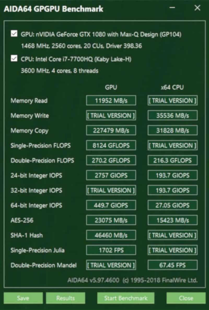 acer predator triton 700 Aida64 GPU1