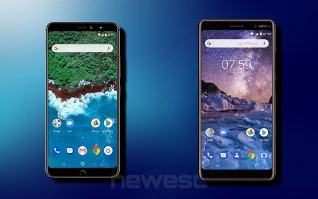 bq Aquaris X2 Pro vs Nokia 7 Plus