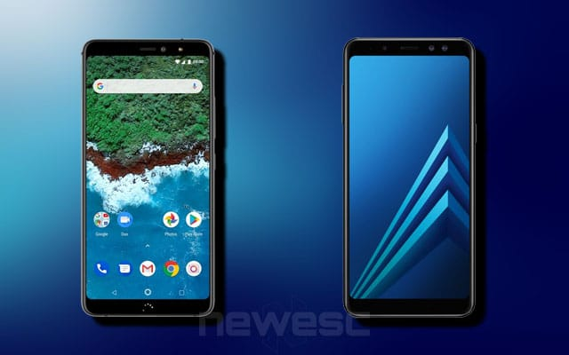 bq Aquaris X2 Pro vs Samsung Galaxy A8 (2018)
