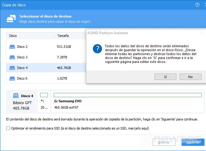 clonar disco duro en Windows 10 con AOMEI 003