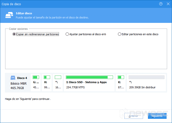 clonar disco duro en Windows 10 con AOMEI 004