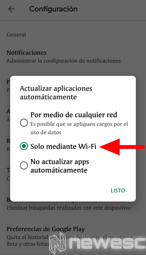 como actualizar chrome en movil 1