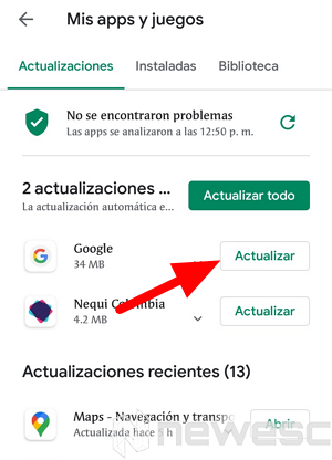 como actualizar chrome en movil 2