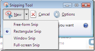 como hacer capturas de pantalla - snipping tool windows vista 2
