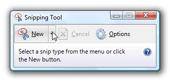 como hacer capturas de pantalla - snipping tool windows vista