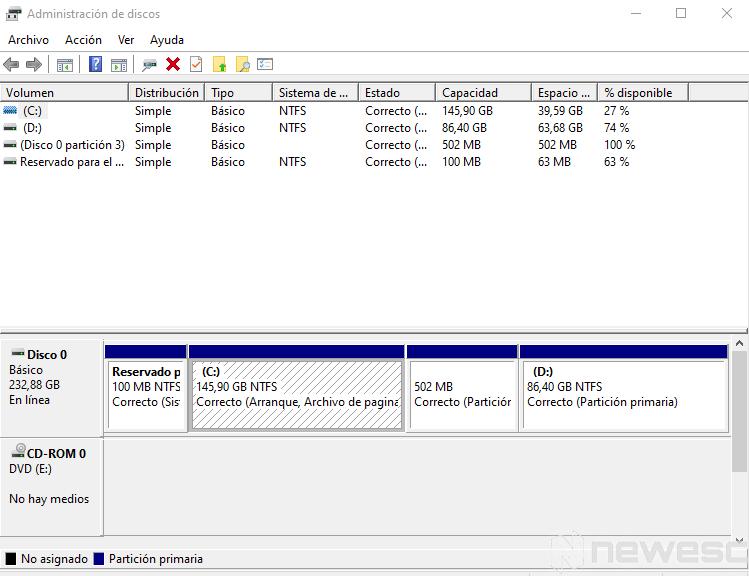 como particionar disco duro windows 2