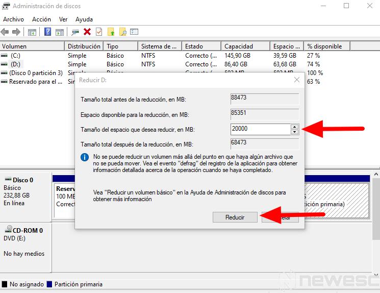 como particionar disco duro windows 4