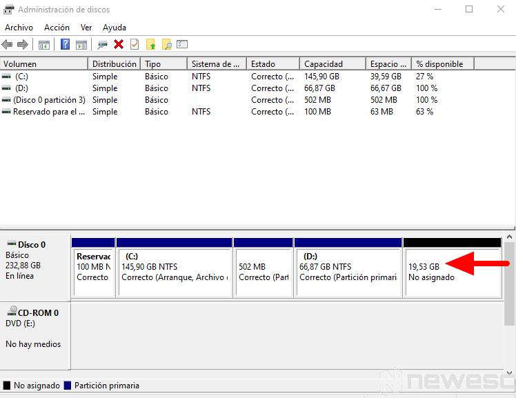 como particionar disco duro windows 5