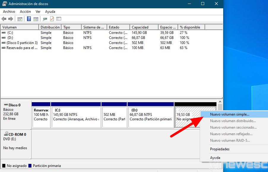 como particionar disco duro windows 6