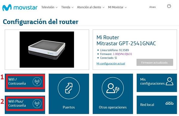 configuración del router Movistar