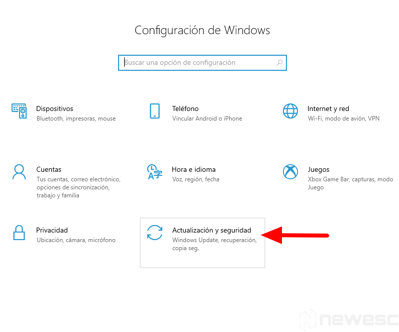 configuracion windows 1