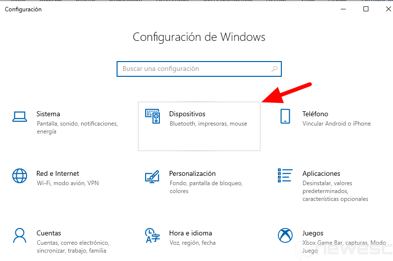 configuracion windows dispositivos