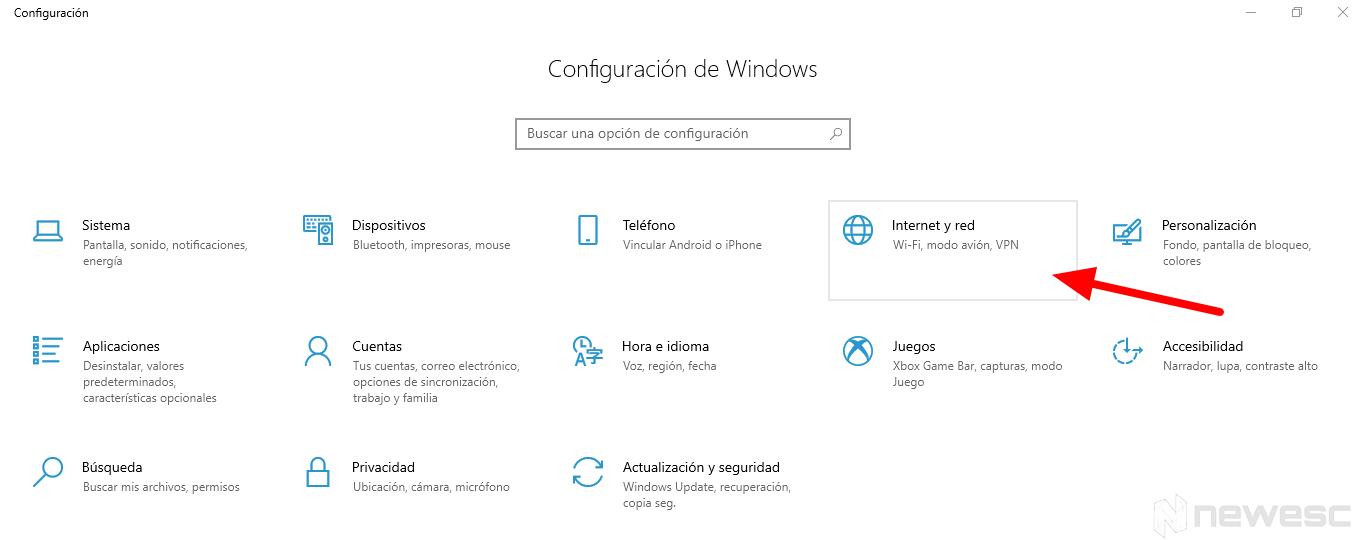 configurar conexion proxy