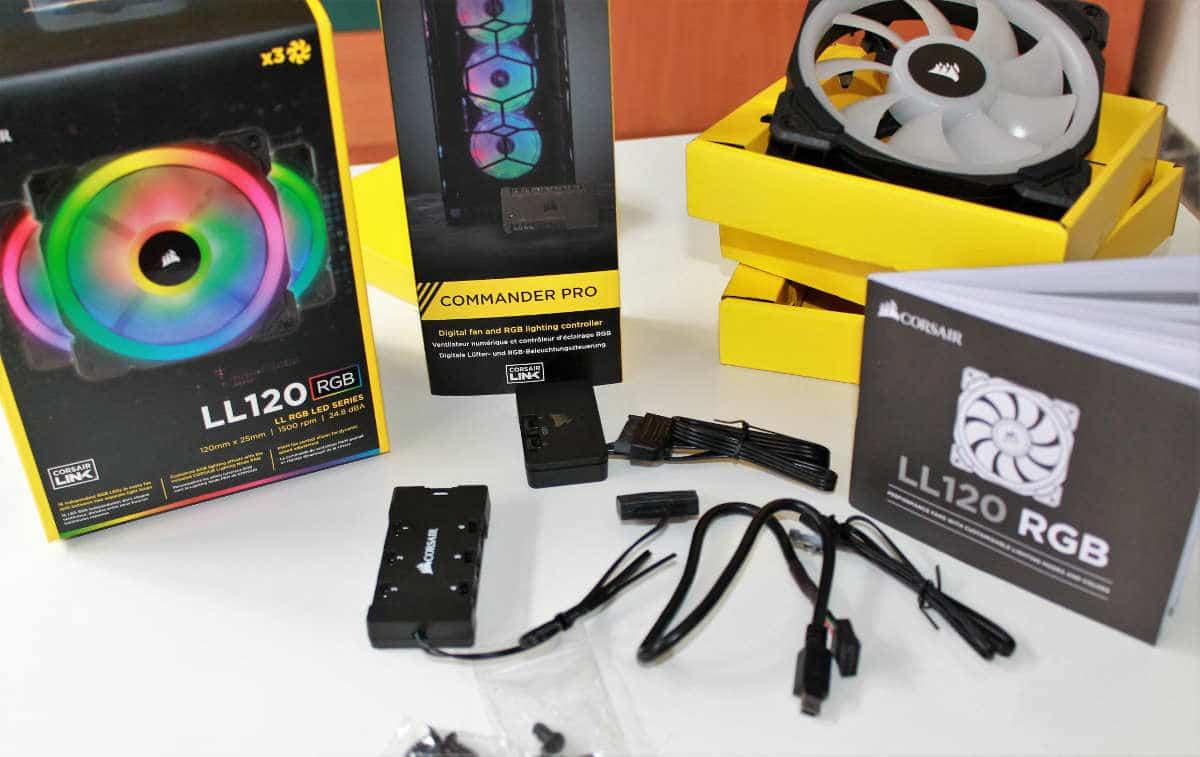 corsair ll 120 rgb packs abiertos