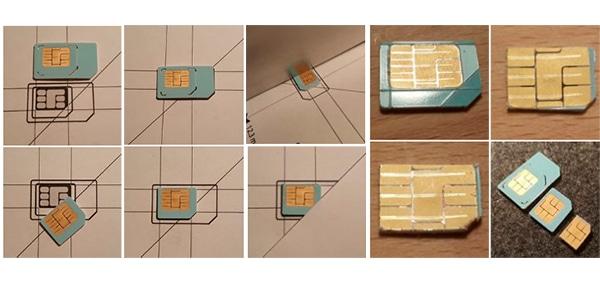 cortar tarjeta sim mini micro nano plantilla-de-corte