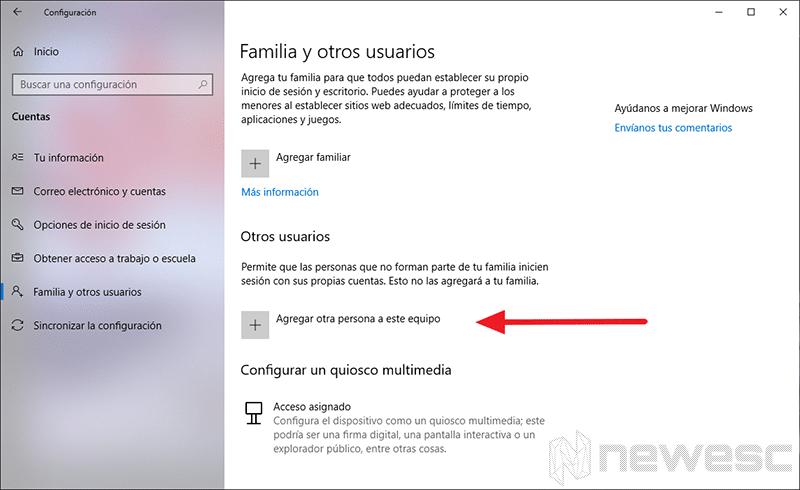 crear una cuenta local en Windows 10 - 2