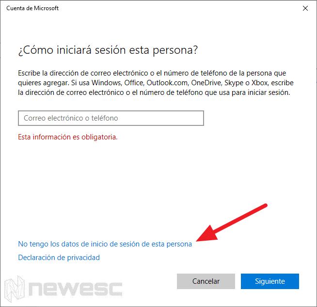 crear una cuenta local en Windows 10 - 3