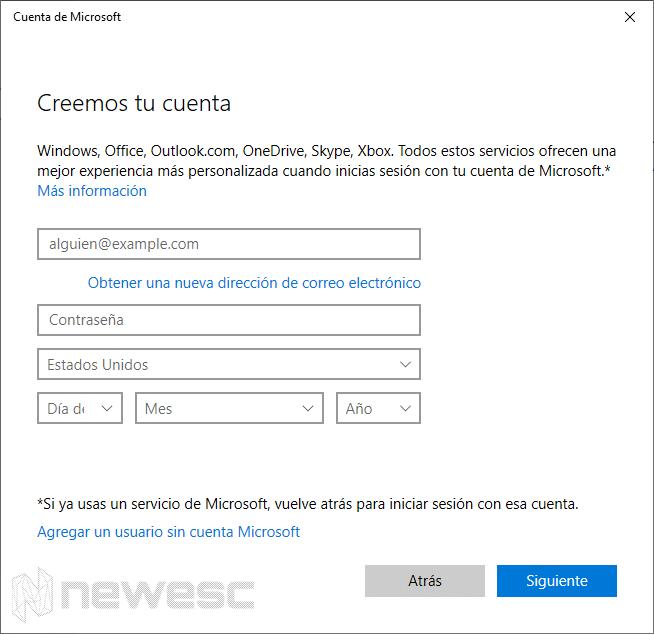 crear una cuenta local en Windows 10 - 4