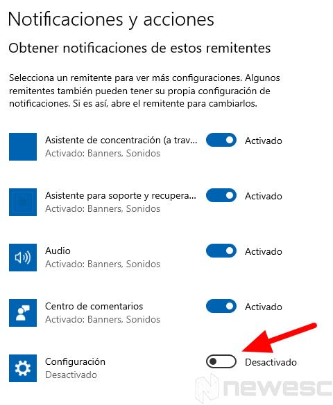 desactivar notificaciones windows 1