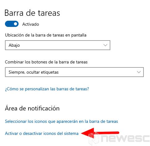 desactivar notificaciones windows 2