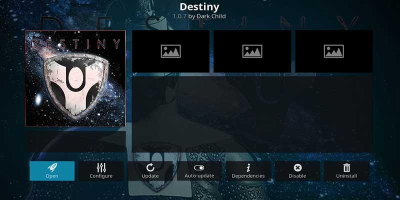 destiny addon en kodi