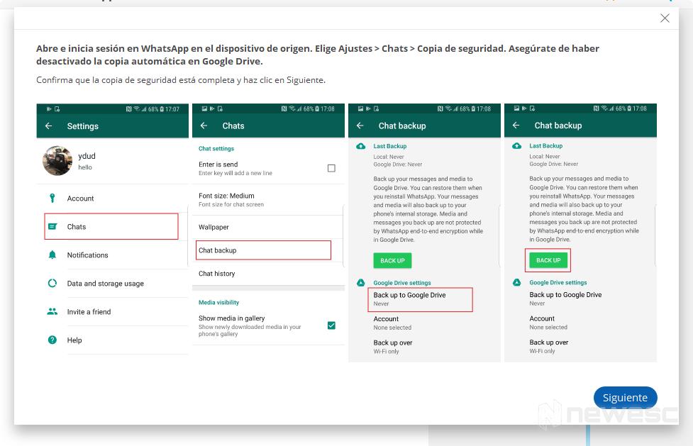 dr.fone - Restauración de Aplicación Social backup de Android