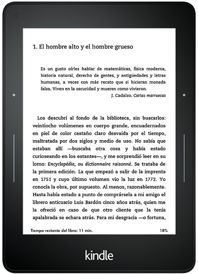 ereaders baratos Kindle Voyage