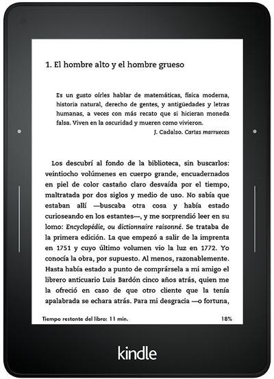 ereaders baratos Kindle Voyage
