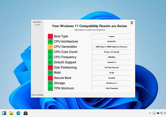 esta app te dice por que tu pc es incompatible con windows 11