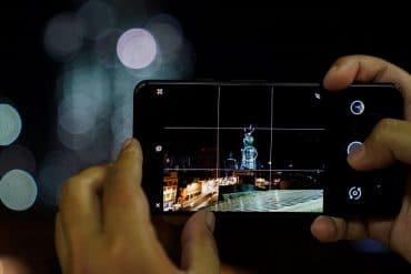 foto en modo nocturno