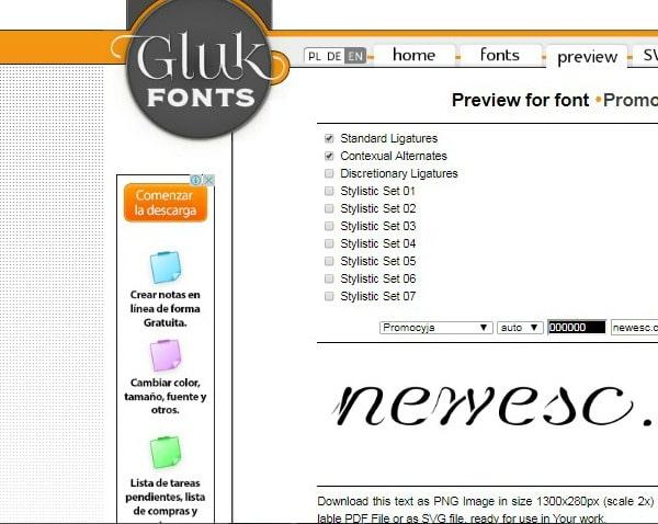 gluk fonts