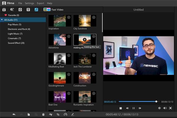 iMyFone Filme el mejor editor de video gratuito 2